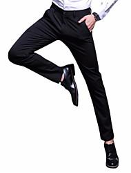 Χαμηλού Κόστους Στολές-Ανδρικά Λεπτό Παντελόνι επίσημο Παντελόνι Μονόχρωμο