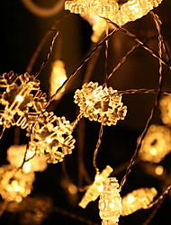 Недорогие -2м Гирлянды 20 светодиоды Белый Декоративная / обожаемый Аккумуляторы 1 комплект