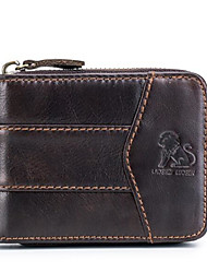 cheap -LAOSHIZI  Nappa Leather Coin Purse Wallet Solid Color for Office & Career Black / Coffee