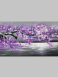 abordables -Peinture à l'huile Hang-peint Peint à la main - Paysage / A fleurs / Botanique Moderne Sans cadre intérieur / Toile roulée
