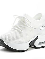 Недорогие -Жен. Комфортная обувь Сетка Наступила зима Спортивные / Милая Спортивная обувь Для прогулок Платформа Круглый носок Белый / Черный / Красный
