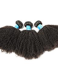 Недорогие -3 Связки Бразильские волосы Афро 10A Не подвергавшиеся окрашиванию человеческие волосы Remy Человека ткет Волосы 8-26 дюймовый Нейтральный Ткет человеческих волос Лучшее качество 100% девственница