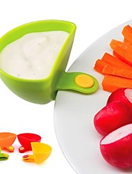 baratos -1 pc dip clips kit ferramenta tigela de cozinha pequenos pratos tempero clipe para molho de tomate sal vinagre açúcar sabor especiarias aleatórias