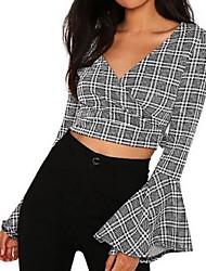 cheap -Women's Basic Shirt - Plaid