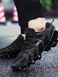 preiswerte -Herrn Laufschuhe / Sneaker PU (Polyurethane) Rennsport / Laufen / Jogging Leicht, Anti-Shake, Polsterung Atmungsaktive Mesh / Tüll / Stoff Schwarz / Schwarz / Rrot