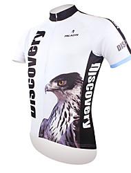Недорогие -ILPALADINO Муж. С короткими рукавами Велокофты - Черный / Белый Eagle Велоспорт Джерси Верхняя часть, Дышащий Быстровысыхающий Ультрафиолетовая устойчивость Полиэстер 100% полиэстер Терилен