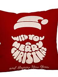 baratos -Cobertura de Almofada Natal Tecido de Algodão Quadrada Festa / Novidades Decoração de Natal