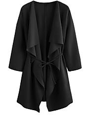 olcso -Alap Női Kabát - Egyszínű