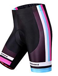 Недорогие -WOSAWE Жен. Велошорты с подкладкой Велоспорт Шорты / Шорты с защитой / Нижняя часть 3D-панель, Быстровысыхающий, С защитой от ветра В