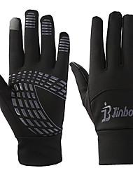 Недорогие -Перчатки для сенсорного экрана Лыжные перчатки Перчатки для велосипедистов Муж. Жен. Сохраняет тепло холст Катание на лыжах