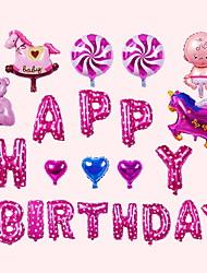 Недорогие -Воздушные шары Круглые Творчество Вечеринка / День рождения Декорации для вечеринок 1 комплект