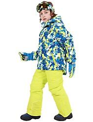 Недорогие -Phibee Мальчики Девочки Лыжная куртка и брюки Водонепроницаемость Сохраняет тепло С защитой от ветра Катание на лыжах На открытом воздухе Сноуборд для фристайла Полиэстер Зимняя куртка Тёплые брюки