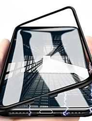 Недорогие -Кейс для Назначение Apple iPhone X / iPhone 8 Pluss / iPhone 8 Магнитный Чехол Однотонный Твердый Металл