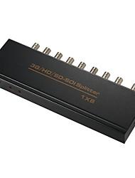 Недорогие -sdi сплиттер 1x2 1x4 1x8 1080p sdi конвертер на большое расстояние до 300 метров с адаптером питания