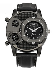 Недорогие -Муж. Спортивные часы электронные часы Кварцевый силиконовый Черный Cool Аналого-цифровые На каждый день - Черный