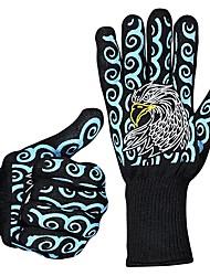 Недорогие -1 пара Термостойкое волокно силикагель Защитные перчатки Безопасность и защита Износостойкий Пожарный выход