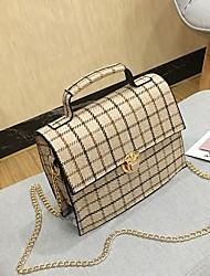 お買い得  -女性用 バッグ PU ショルダーバッグ ボタン ダックグレー / イエロー / Brown