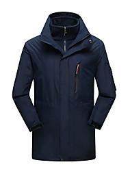 Недорогие -Муж. Худи и толстовка Куртка для туризма и прогулок на открытом воздухе Осень Весна Зима С защитой от ветра Дожденепроницаемый Воздухопроницаемость Пригодно для носки Полиэфир Куртки 3-в-1