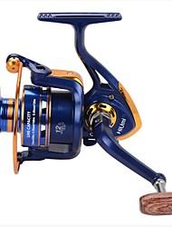 baratos -Molinetes de Pesca Molinetes Rotativos 12 Relação de Engrenagem+12 Rolamentos Orientação da mão Trocável Rotação / Pesca de Água Doce / Pesca de Carpa