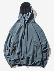 billige -Herre Gade Hattetrøje - Ensfarvet