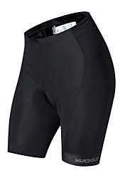 baratos -Nuckily Mulheres Bermudas Acolchoadas Para Ciclismo Moto Shorts Acolchoados / Calças Secagem Rápida, Respirável Palavras Branco / Preto Roupa de Ciclismo