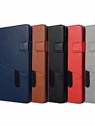 Недорогие -Кейс для Назначение Apple iPad (2018) / iPad Air 2 Кошелек / Бумажник для карт / со стендом Чехол Однотонный Твердый Кожа PU для iPad Air / iPad 4/3/2 / iPad Mini 3/2/1