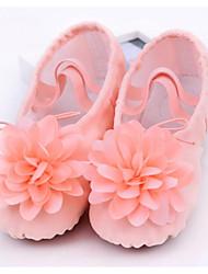 Недорогие -Девочки Обувь для балета Полотно На плоской подошве / Кроссовки На плоской подошве Танцевальная обувь Розовый / Телесный