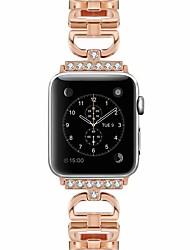 Недорогие -SmartWatch для Apple Watch серии 4/3/2/1 Apple, ювелирные изделия дизайн металлический ремешок