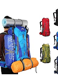 Недорогие -75 L Рюкзаки / Заплечный рюкзак - Легкость, Дожденепроницаемый, Воздухопроницаемость На открытом воздухе Пешеходный туризм, Походы, Путешествия Нейлон Красный, Зеленый, Синий