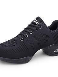 abordables -Femme Baskets de Danse Maille Basket Talon Plat Chaussures de danse Blanc / Noir / Rouge