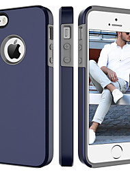 billiga -BENTOBEN fodral Till Apple iPhone 5-fodral Stötsäker Skal Enfärgad Hårt PC för iPhone SE / 5s / iPhone 5