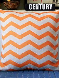 cheap -1 pcs Cotton / Linen Pillow Cover, Striped Modern / Contemporary