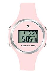 Недорогие -Жен. Наручные часы Цифровой силиконовый Черный / Красный / Розовый Календарь ЖК экран тахометр Цифровой Дамы Мода Цветной - Черный Красный Розовый Два года Срок службы батареи