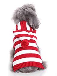 Недорогие -Собаки Свитера Одежда для собак Тонка шерсть Окрашенная пряжа Персонажи Пурпурный Красный Синий Терилен Костюм Назначение Бульдог Шиба-Ину Коккер-спаниель Осень Зима Универсальные