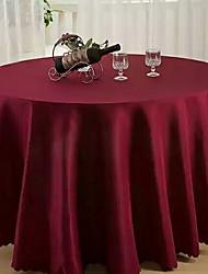 Недорогие -Современный 100 г / м2 полиэфирный стреч-трикотаж Круглый Скатерти Однотонный Настольные украшения 1 pcs