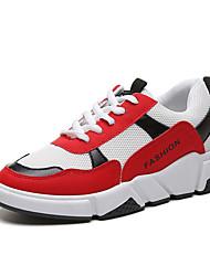 Недорогие -Жен. Комфортная обувь Полиуретан Осень На каждый день Спортивная обувь Беговая обувь На плоской подошве Круглый носок Белый / Серый / Красный / Контрастных цветов