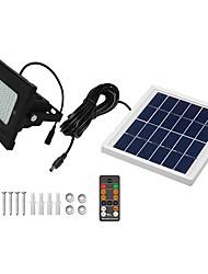 abordables -1pc 5 W Projecteurs LED Imperméable / Télécommandé / Solaire Blanc Froid 3.7 V Eclairage Extérieur / Cour / Jardin 54 Perles LED