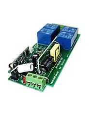 Недорогие -220в 4-х полосный пульт дистанционного управления красное дерево 4 кнопки беспроводной пульт дистанционного управления