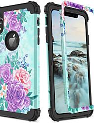 Недорогие -BENTOBEN Кейс для Назначение Apple iPhone XR / iPhone XS Max Защита от удара / С узором / Wireless Charging Receiver Case Кейс на заднюю панель Пейзаж / Цветы / Градиент цвета Твердый ПК / силикагель
