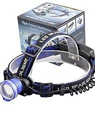 Недорогие -U'King Налобные фонари Фары для велосипеда Светодиодная лампа LED излучатели 2000 lm 3 Режим освещения Масштабируемые Будильник Фокусировка