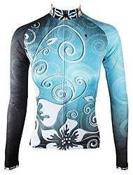 Недорогие -ILPALADINO Жен. Длинный рукав Велокофты - Небесно-голубой Мода Велоспорт Джерси Верхняя часть, Флисовая подкладка Сохраняет тепло Ультрафиолетовая устойчивость, Зима, Эластан