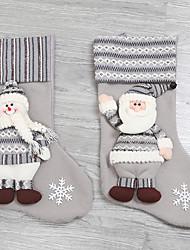 Недорогие -Рождественские чулки Праздник Хлопок Для вечеринок Рождественские украшения