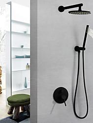 Недорогие -Смеситель для душа / Ванная раковина кран - Современный Окрашенные отделки На стену Медный клапан Bath Shower Mixer Taps / Латунь / Одной ручкой три отверстия