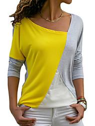 Недорогие -женская свободная футболка - цветной круглый шею