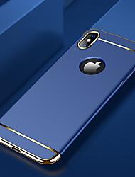 Недорогие -Кейс для Назначение Apple iPhone X / iPhone XS Max Покрытие Кейс на заднюю панель Однотонный Твердый ПК для iPhone XS / iPhone XR / iPhone XS Max