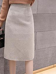 رخيصةأون -المرأة الخروج من التنانير قلم الركبة طول - بلون