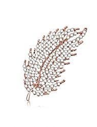 Недорогие -Жен. Броши Классический В форме листа Дамы Сладкое детство Элегантный стиль Хиппи Брошь Бижутерия Серебряный Назначение Подарок Маскарад