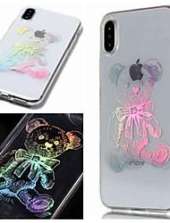 billige -Etui Til Apple iPhone XR / iPhone XS Max IMD / Transparent / Mønster Bagcover Dyr Blødt TPU for iPhone XS / iPhone XR / iPhone XS Max