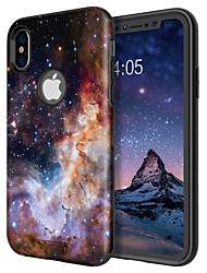 baratos -caso bentoben para apple iphone x / iphone xs à prova de choque / padrão / receptor de carregamento sem fio caso tampa traseira paisagem / cor gradiente rígido tpu / pc para iphone xs / iphone x