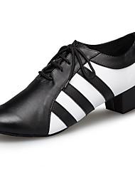 billiga -Herr Moderna skor Imitationsläder / Läder Sneaker Tvinning Tjock häl Dansskor Svart